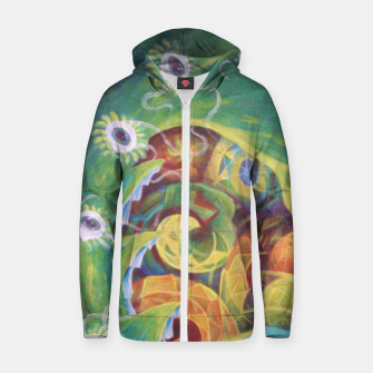 Thumbnail image of Geomesstrix Zip up hoodie, Live Heroes