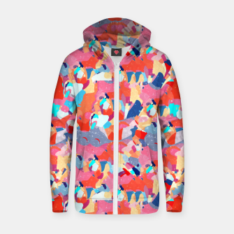Thumbnail image of Mosaic Floor Zip up hoodie, Live Heroes
