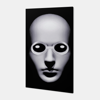 Thumbnail image of Alien With Glasses Head Scary Poster Canvas, Live Heroes