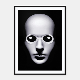 Thumbnail image of Alien With Glasses Head Scary Poster Framed poster, Live Heroes