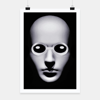 Thumbnail image of Alien With Glasses Head Scary Poster Poster, Live Heroes