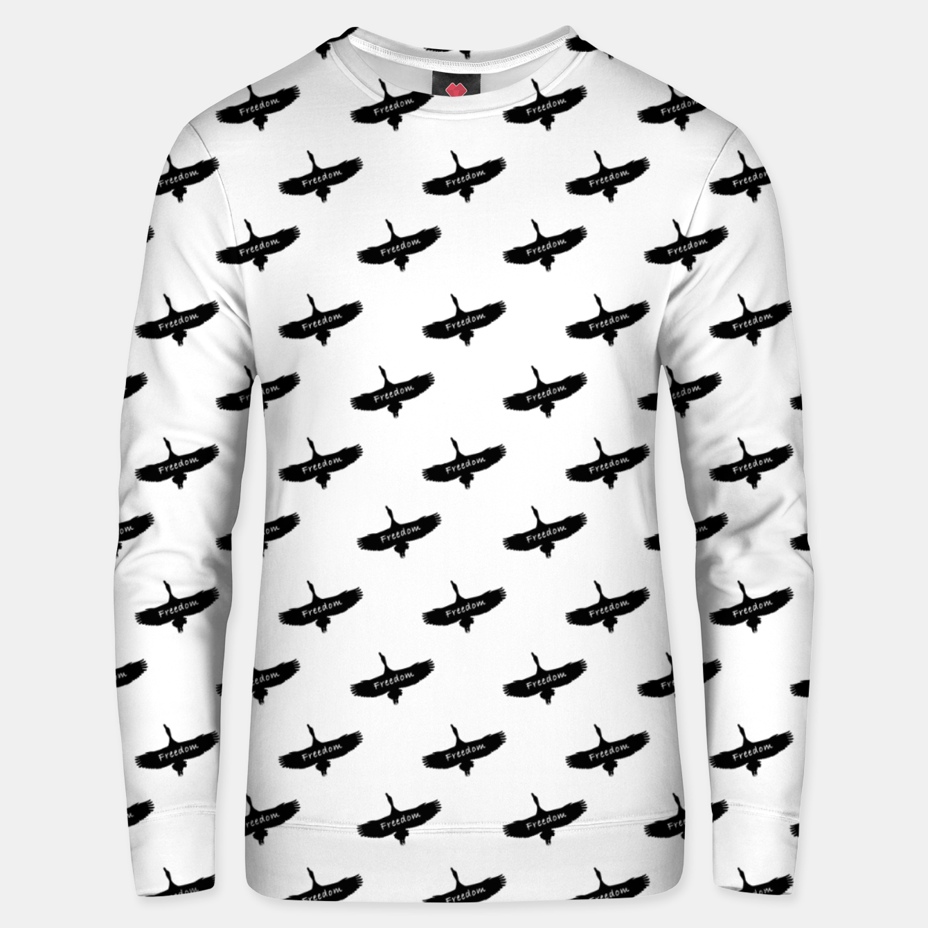 Image de Freedom Concept Graphic Silhouette Illustration Unisex sweater - Live Heroes