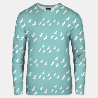 Miniatur Birds Flying Graphic Silhouette Pattern Unisex sweater, Live Heroes