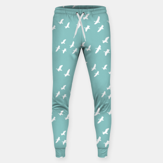 Miniatur Birds Flying Graphic Silhouette Pattern Sweatpants, Live Heroes