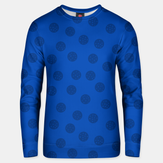 Thumbnail image of Dots With Points Dark Blue Unisex sweater, Live Heroes