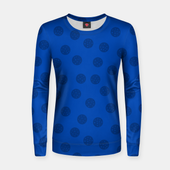 Thumbnail image of Dots With Points Dark Blue Women sweater, Live Heroes