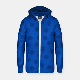 Thumbnail image of Dots With Points Dark Blue Zip up hoodie, Live Heroes