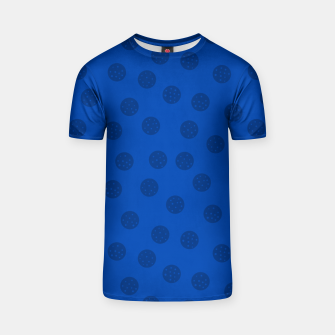 Thumbnail image of Dots With Points Dark Blue T-shirt, Live Heroes