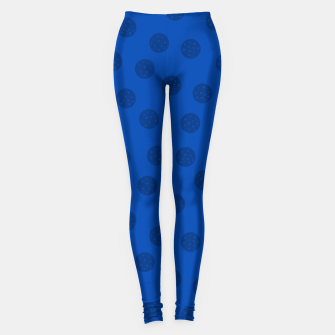 Thumbnail image of Dots With Points Dark Blue Leggings, Live Heroes