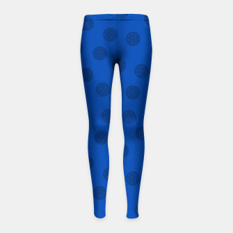 Thumbnail image of Dots With Points Dark Blue Girl's leggings, Live Heroes