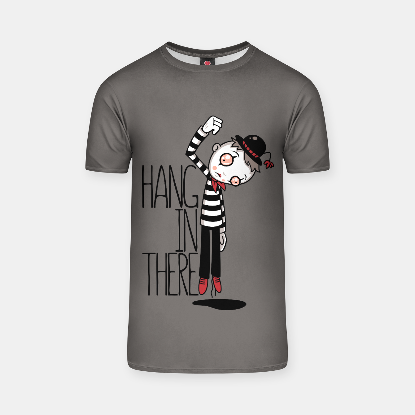Foto Hang In There Mime T-shirt - Live Heroes