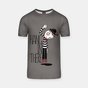 Hang In There Mime T-shirt Bild der Miniatur