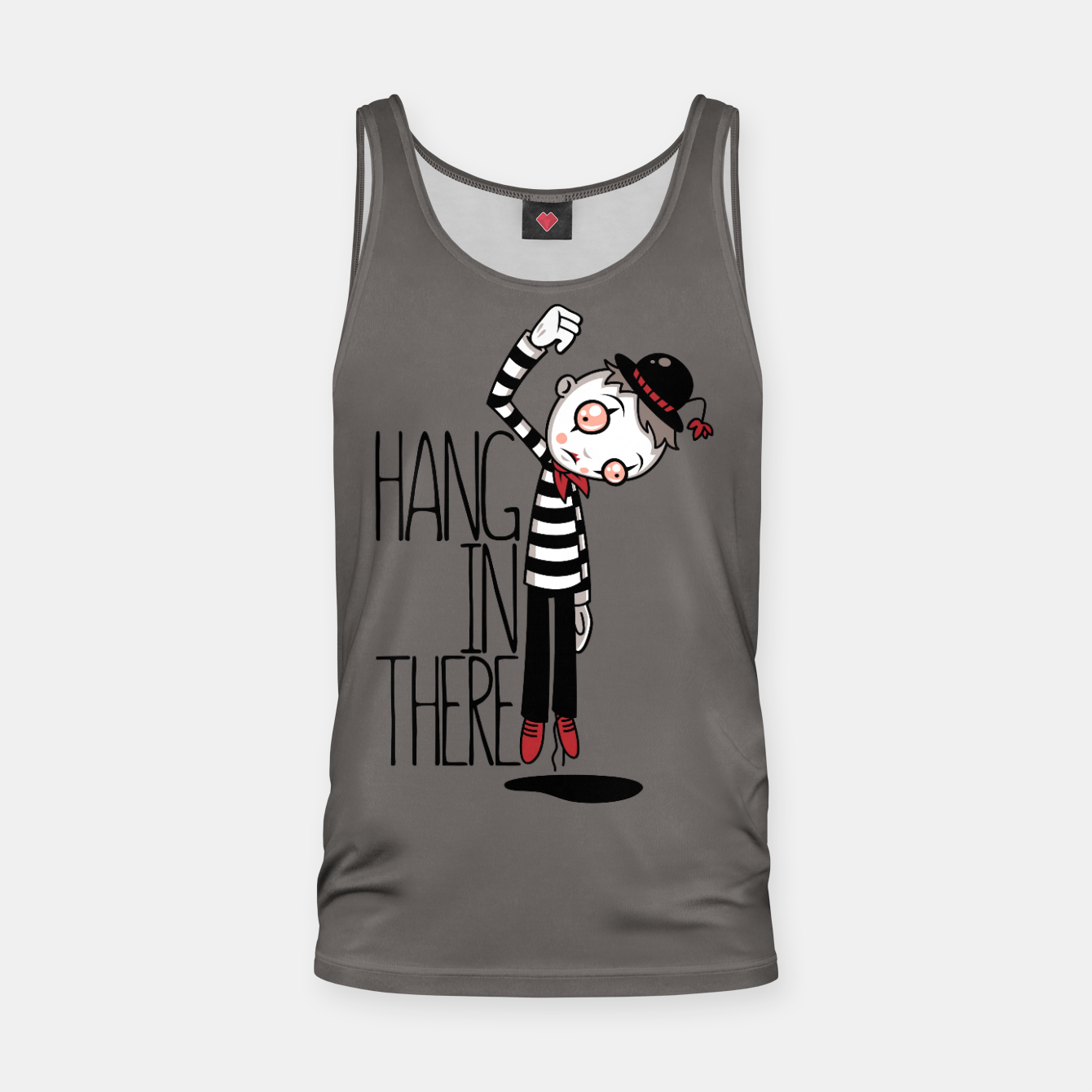 Foto Hang In There Mime Tank Top - Live Heroes