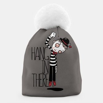 Hang In There Mime Beanie Bild der Miniatur