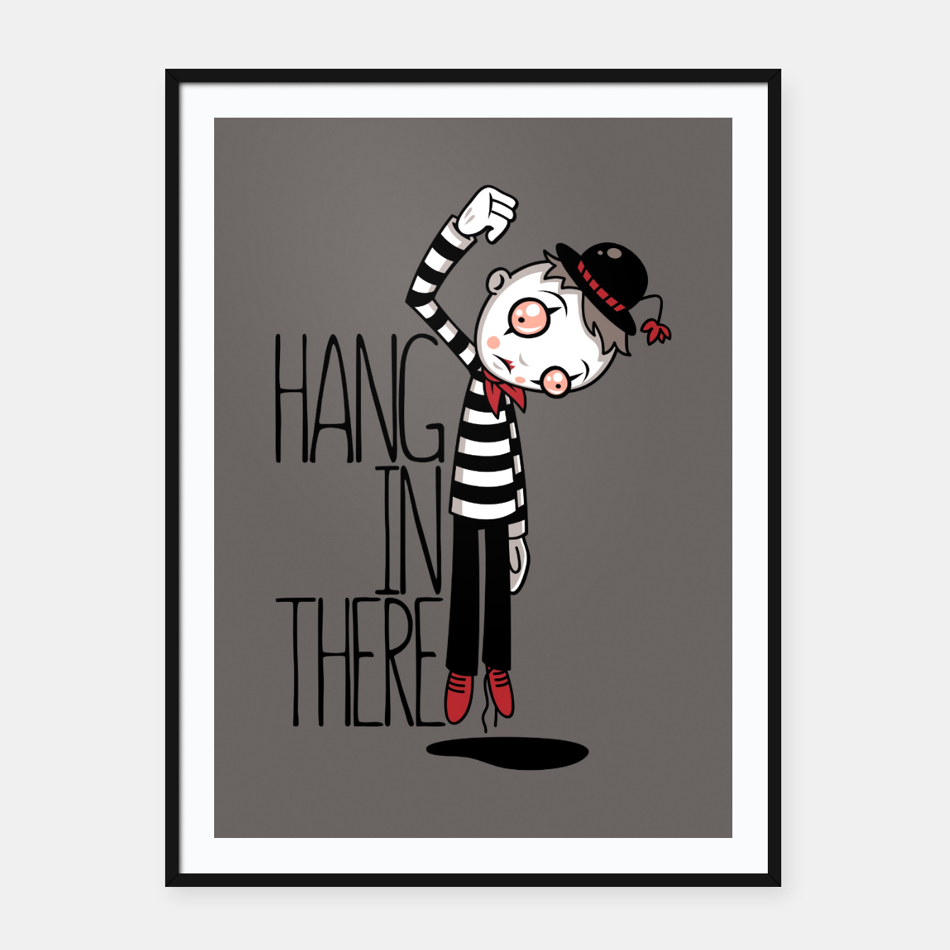 Foto Hang In There Mime Framed poster - Live Heroes