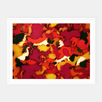 Thumbnail image of Deep depth heat Framed poster, Live Heroes