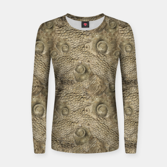 Thumbnail image of Ordovician Fossils Seamless Pattern Women sweater, Live Heroes