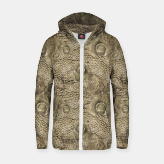 Thumbnail image of Ordovician Fossils Seamless Pattern Zip up hoodie, Live Heroes