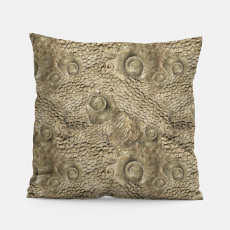 Thumbnail image of Ordovician Fossils Seamless Pattern Pillow, Live Heroes