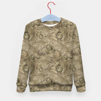 Thumbnail image of Ordovician Fossils Seamless Pattern Kid's sweater, Live Heroes