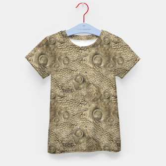Thumbnail image of Ordovician Fossils Seamless Pattern Kid's t-shirt, Live Heroes