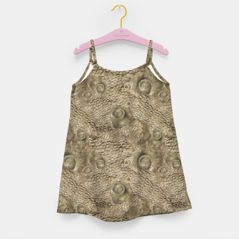 Thumbnail image of Ordovician Fossils Seamless Pattern Girl's dress, Live Heroes