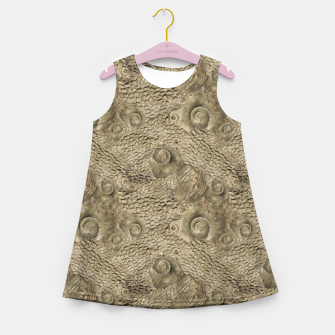 Thumbnail image of Ordovician Fossils Seamless Pattern Girl's summer dress, Live Heroes