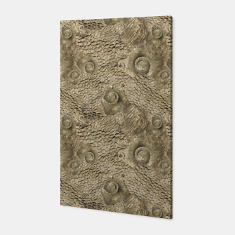 Thumbnail image of Ordovician Fossils Seamless Pattern Canvas, Live Heroes