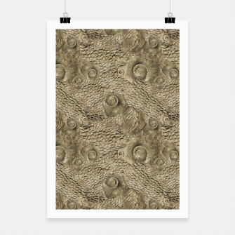 Thumbnail image of Ordovician Fossils Seamless Pattern Poster, Live Heroes