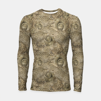 Thumbnail image of Ordovician Fossils Seamless Pattern Longsleeve rashguard , Live Heroes