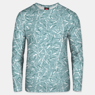 Textured Bamboo Forest in Teal Blue Unisex sweater miniature