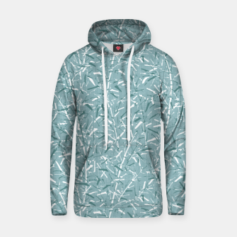 Textured Bamboo Forest in Teal Blue Hoodie miniature