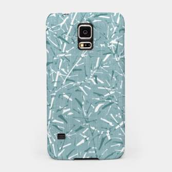 Textured Bamboo Forest in Teal Blue Samsung Case miniature