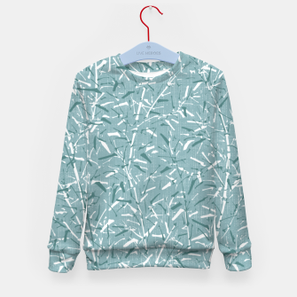 Textured Bamboo Forest in Teal Blue Kid's sweater miniature