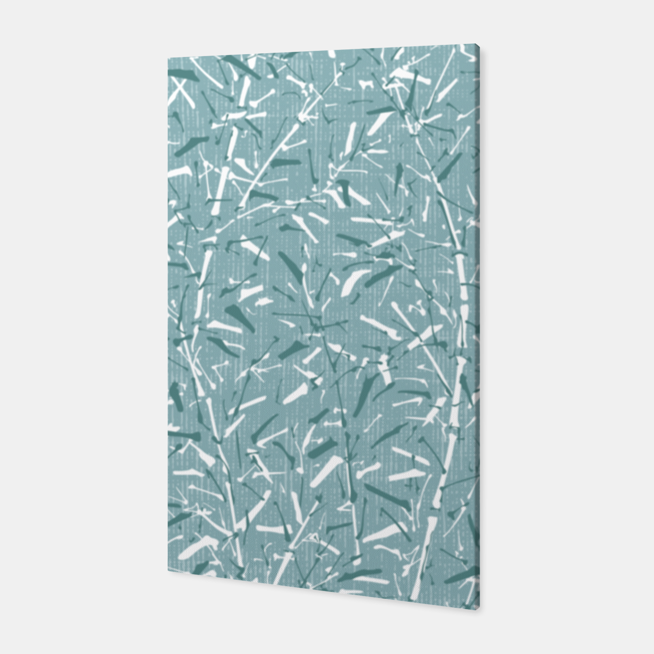 Image de Textured Bamboo Forest in Teal Blue Canvas - Live Heroes