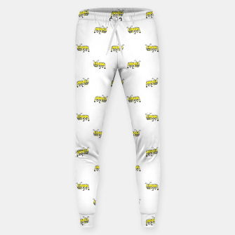 Miniatur Ant Sketchy Comic Style Motif Pattern Sweatpants, Live Heroes