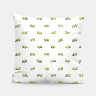 Miniatur Ant Sketchy Comic Style Motif Pattern Pillow, Live Heroes