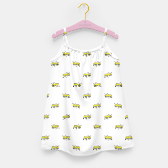 Miniaturka Ant Sketchy Comic Style Motif Pattern Girl's dress, Live Heroes