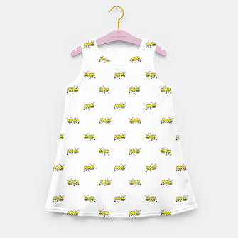 Miniaturka Ant Sketchy Comic Style Motif Pattern Girl's summer dress, Live Heroes