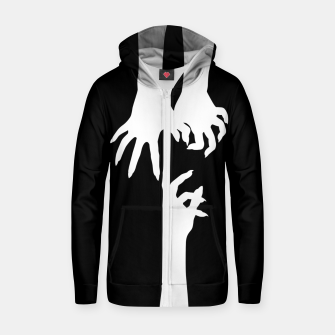 Thumbnail image of Witch hands Sudadera con capucha y cremallera , Live Heroes