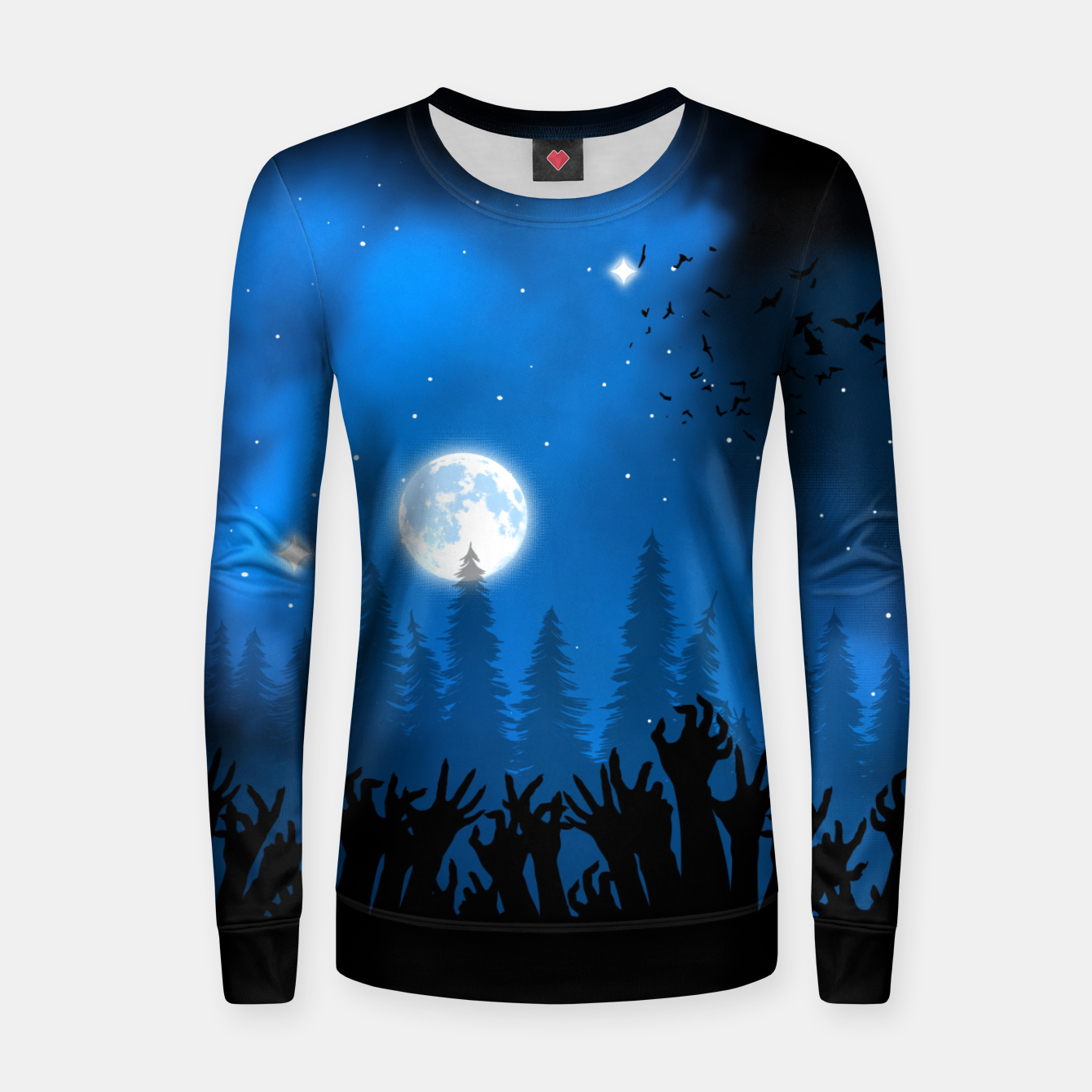 Foto Zombies in Forest Sudadera para mujeres - Live Heroes