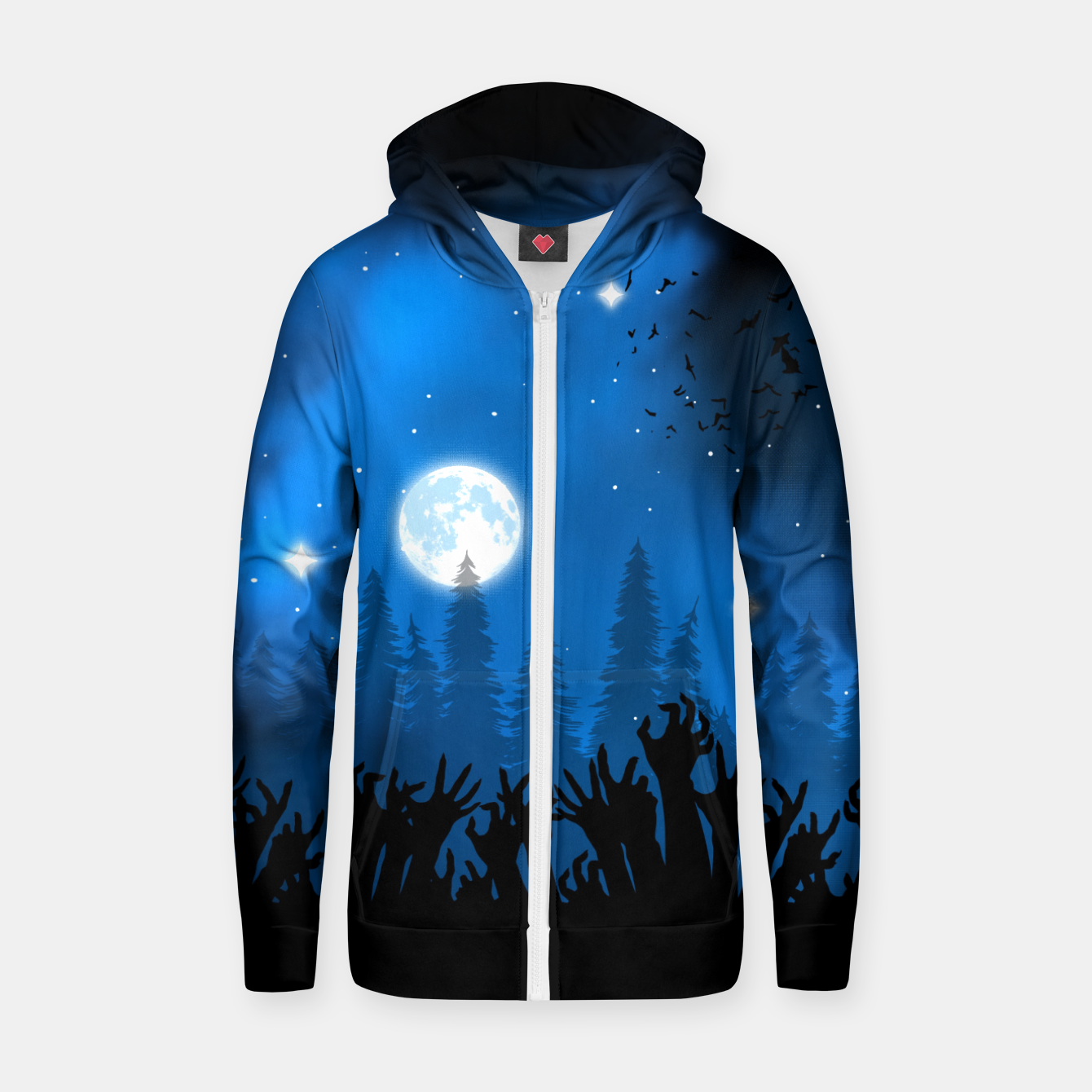 Foto Zombies in Forest Sudadera con capucha y cremallera  - Live Heroes