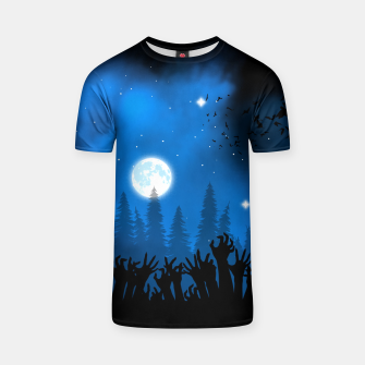 Zombies in Forest Camiseta Bild der Miniatur