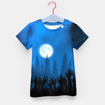 Thumbnail image of Zombies in Forest Camiseta para niños, Live Heroes