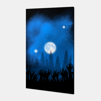 Zombies in Forest Canvas thumbnail image