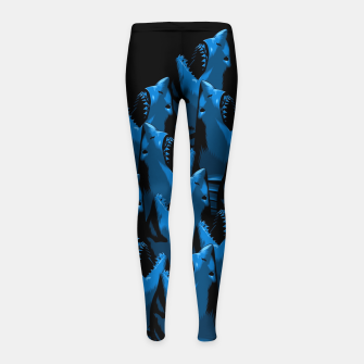 Thumbnail image of Pattern Shark Leggings para niña, Live Heroes