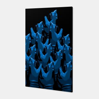 Pattern Shark Canvas Bild der Miniatur