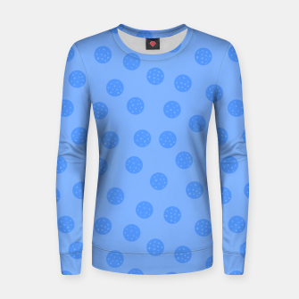 Thumbnail image of Dots With Points Light Blue Women sweater, Live Heroes