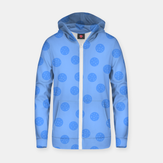 Thumbnail image of Dots With Points Light Blue Zip up hoodie, Live Heroes