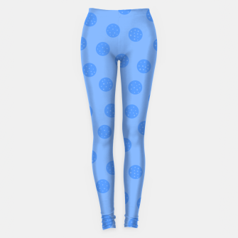 Thumbnail image of Dots With Points Light Blue Leggings, Live Heroes